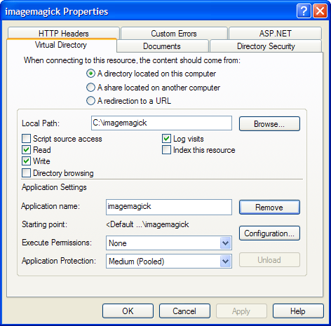 Creating Virtual Directory in IIS