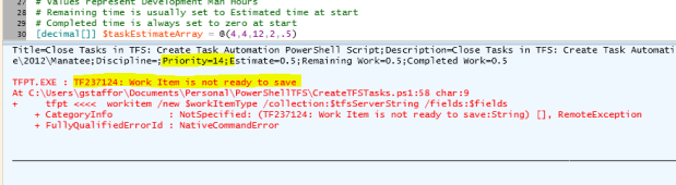 Incorrect Task Input Error