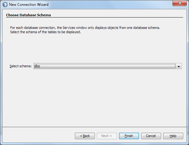 Selecting Default Database Schema