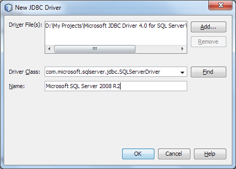 Adding a New JDBC Driver in NetBeans