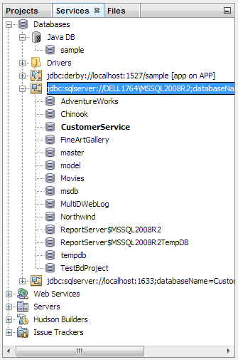 Database Connections in NetBeans