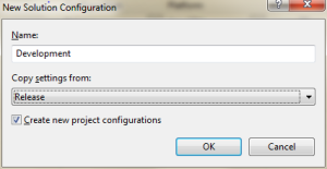 New Development Solution Configuration 01