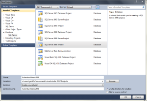 VS 2010 Database Project 01