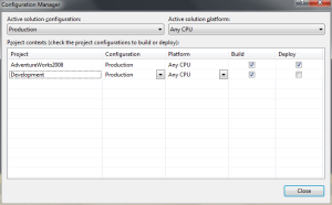 Solution Configuration Manager