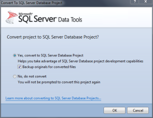 Convert Project to SQL Server Database Project