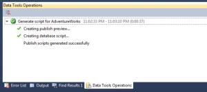 Generate Script Results