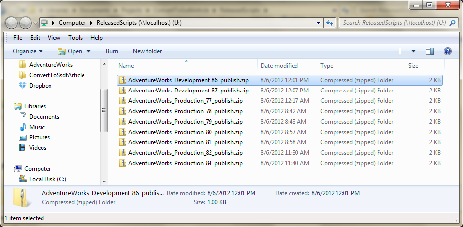Convert VS 2010 Database Project to SSDT and Automate