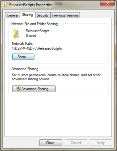 Sharing Folder for Released Artifacts
