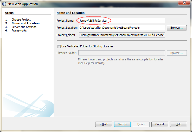 01b - Create a New Web ApplicationProject in NetBeans