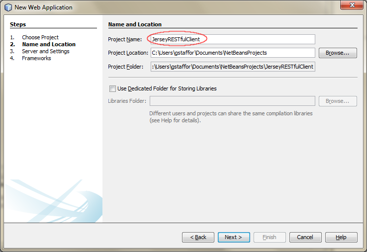 01b - Create a New Web Application Project in NetBeans