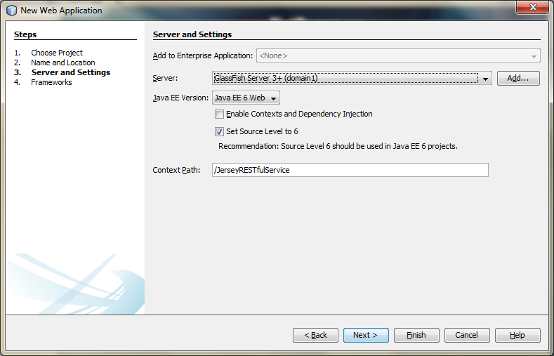 01c - Create a New Web Application Project in NetBeans