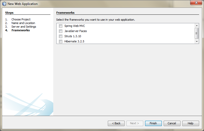 01d - Create a New Web Application Project in NetBeans