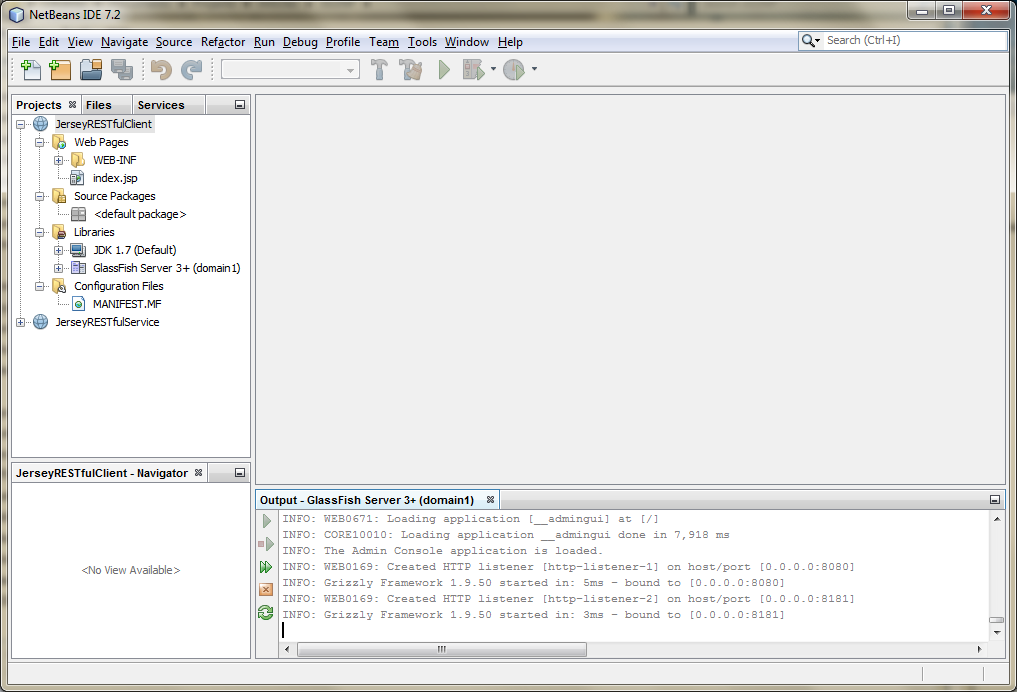 01e - Create a New Web Application Project in NetBeans