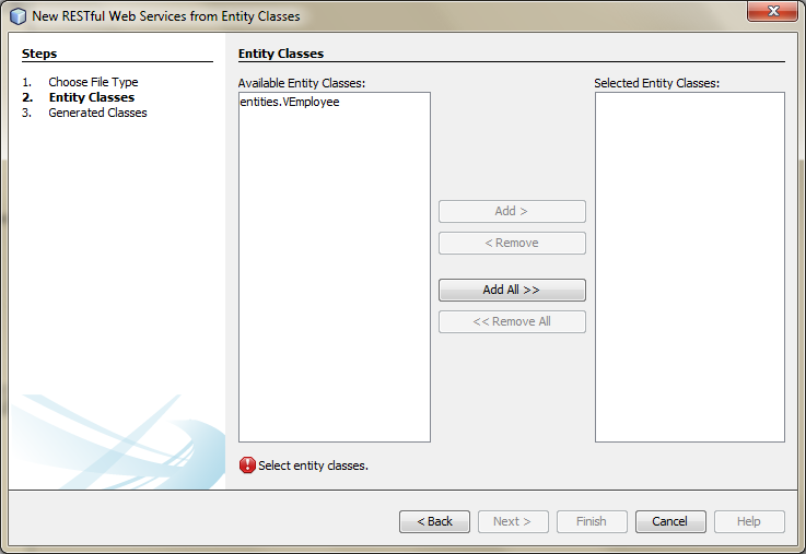 04b - Create RESTful Web Services from Entity Classes