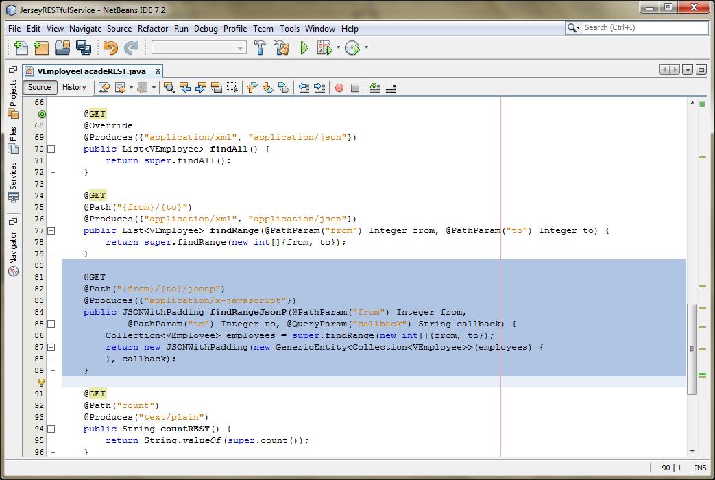 06a - Adding Jersey JSONP Method
