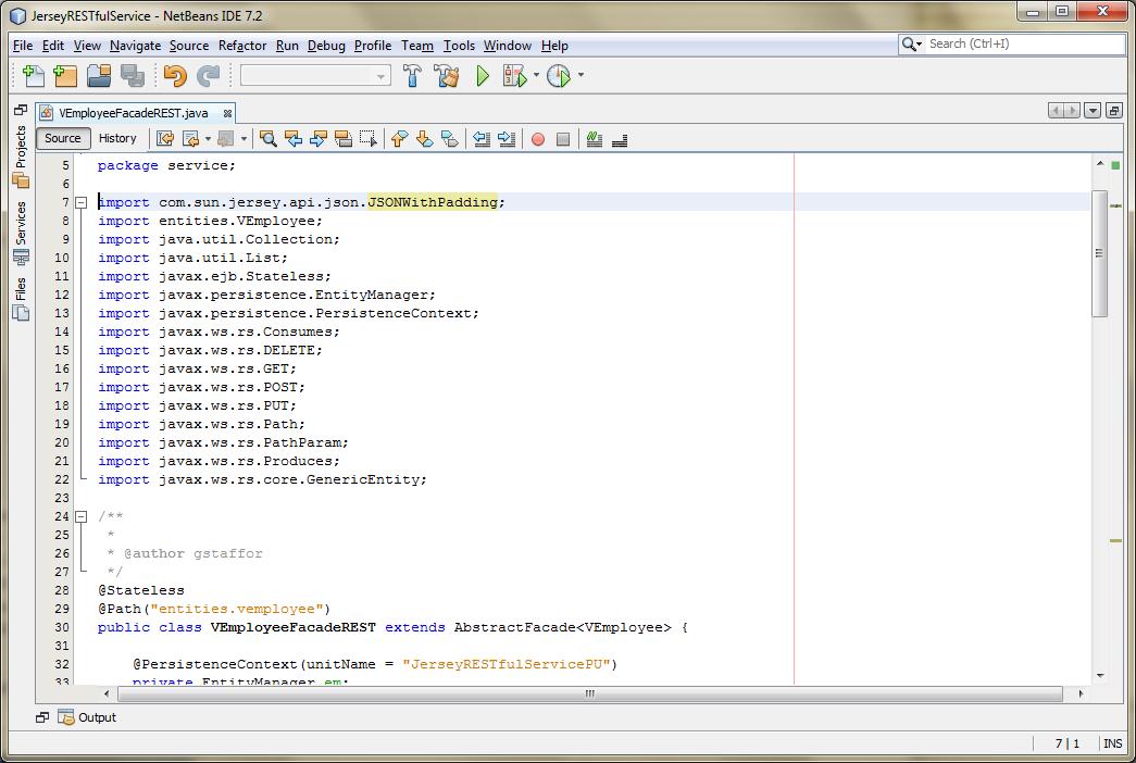 06b - Adding Jersey JSONP Method
