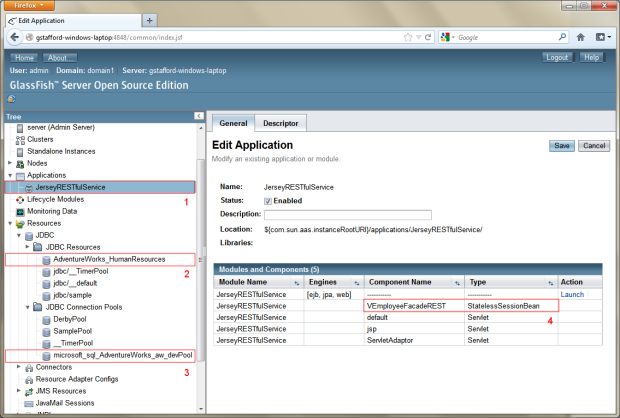08b - Deploy RESTful Web Service to Remote GlassFish Server