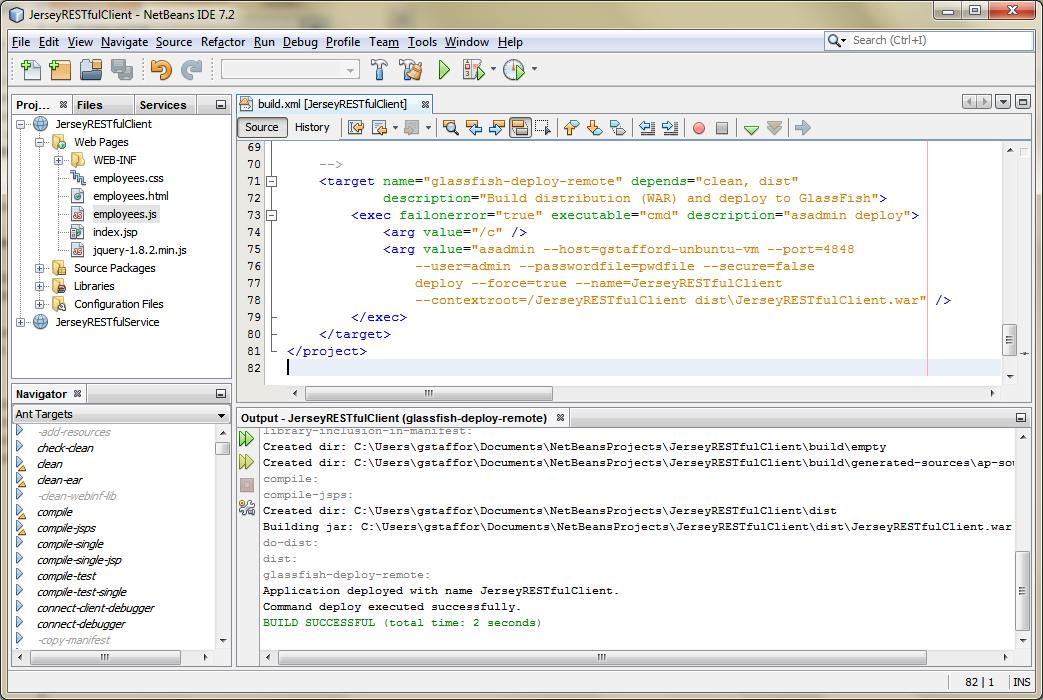 08c - Deploy RESTful Web Service Client to Remote GlassFish Server