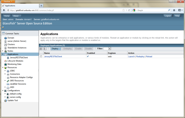 08d - Deploy RESTful Web Service Client to Remote GlassFish Server