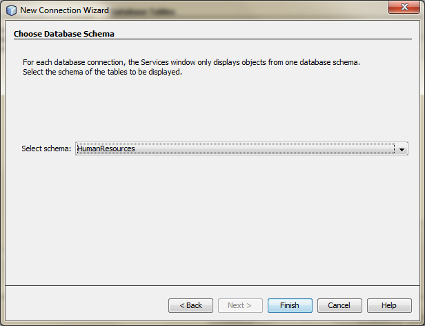 Creating a New Datasource for Entity Classes from a Database - 04