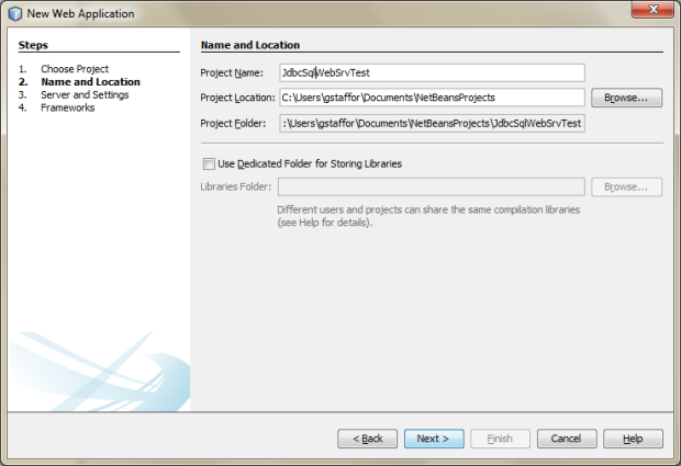 Creating a New Java Web Application Project in NetBeans - 03