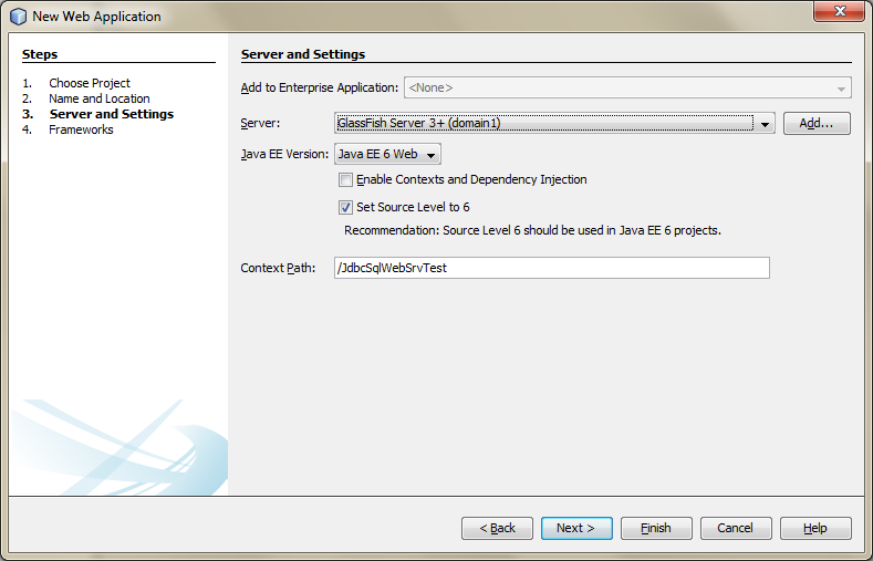 Creating a New Java Web Application Project in NetBeans - 04