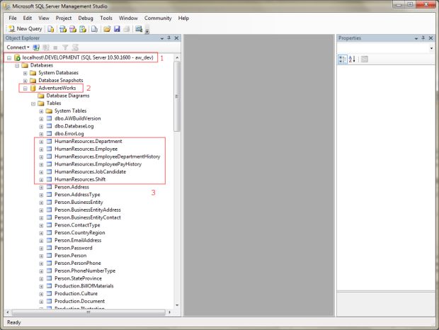 SQL Server 2008 R2 AdventureWorks Database