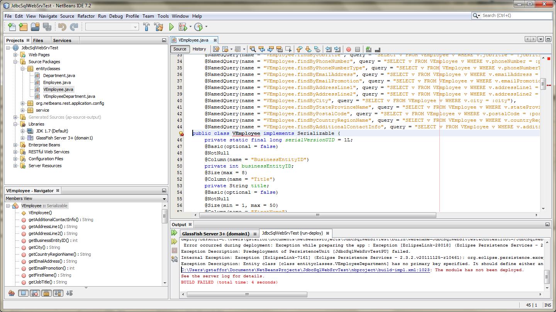 Fix Entity Id Error in View Entity Classes - 01
