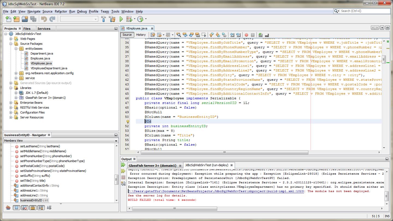 Fix Entity Id Error in View Entity Classes - 03