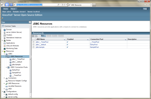 GlassFish 01 - Prior to Deploying New Application