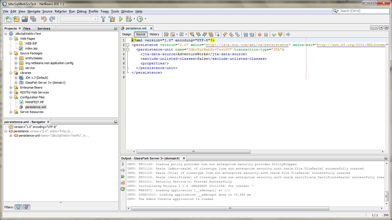 JPA Configuration - Source (persistence.xml)