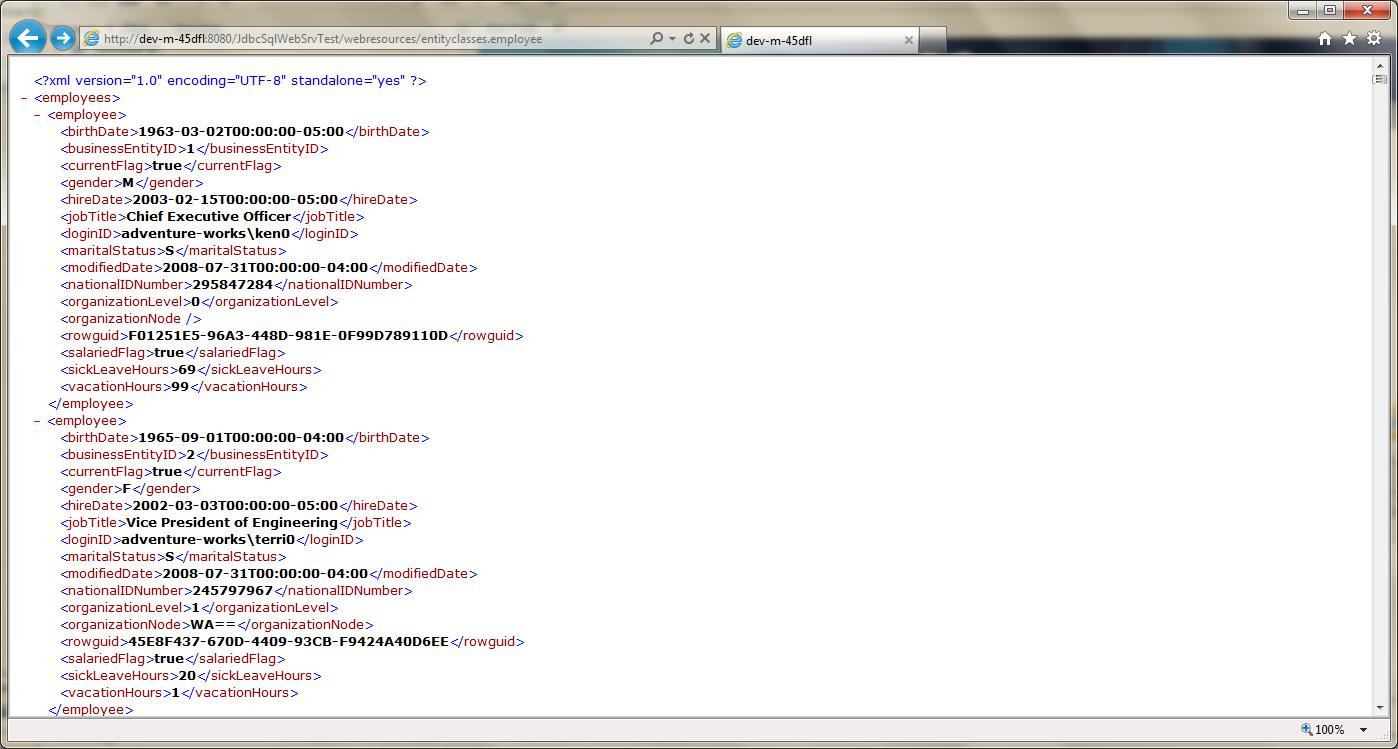 Test RESTful Web Service in GlassFish - 02