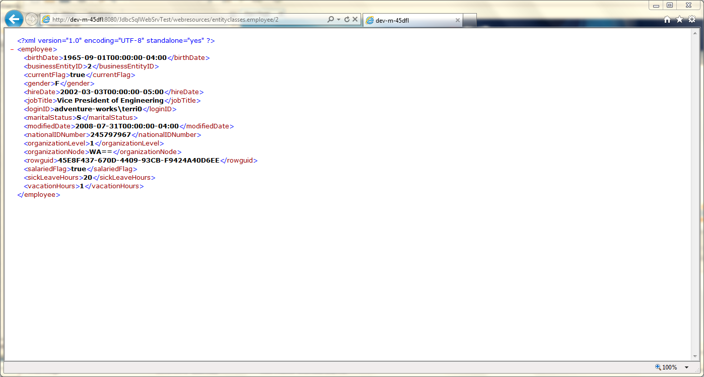 Test RESTful Web Service in GlassFish - 03