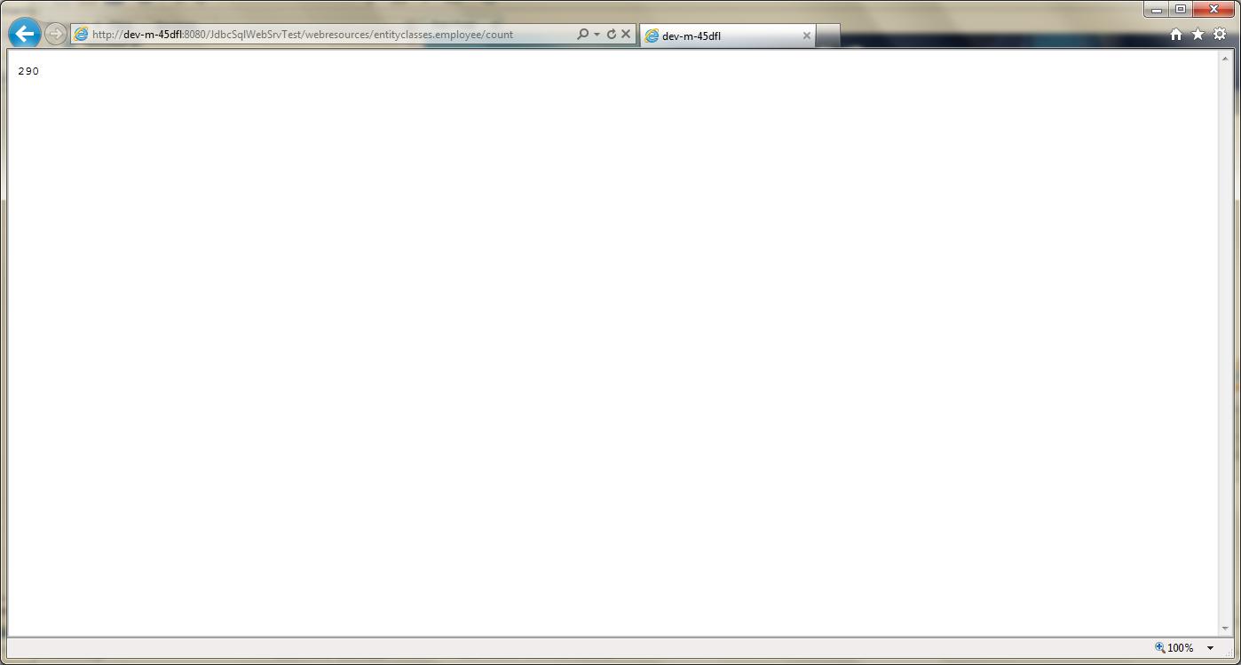 Test RESTful Web Service in GlassFish - 04