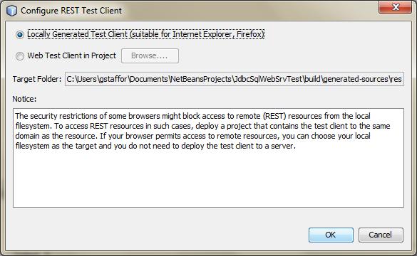 Test RESTful Web Service in NetBeans - 01