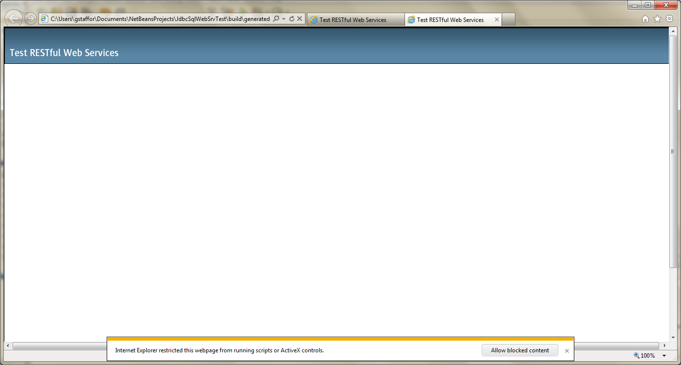 Test RESTful Web Service in NetBeans - 02