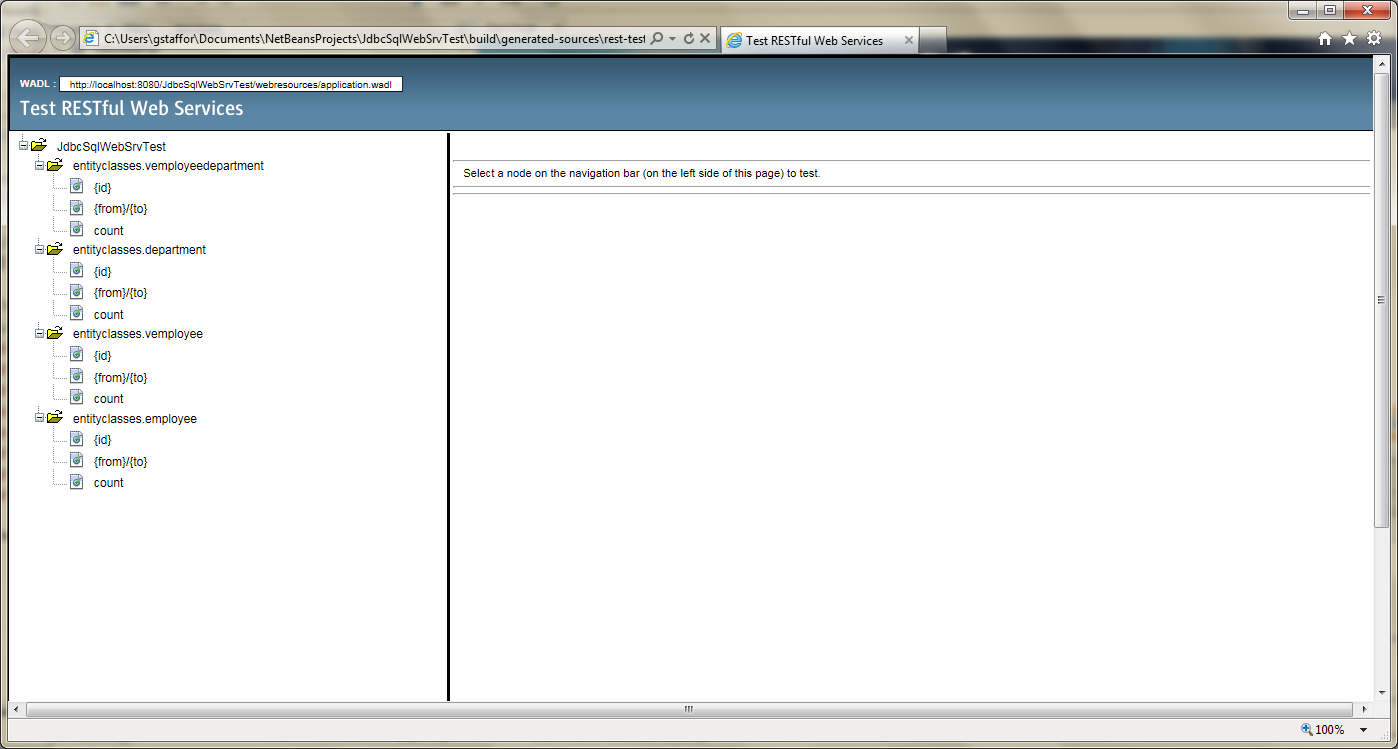 Test RESTful Web Service in NetBeans - 03
