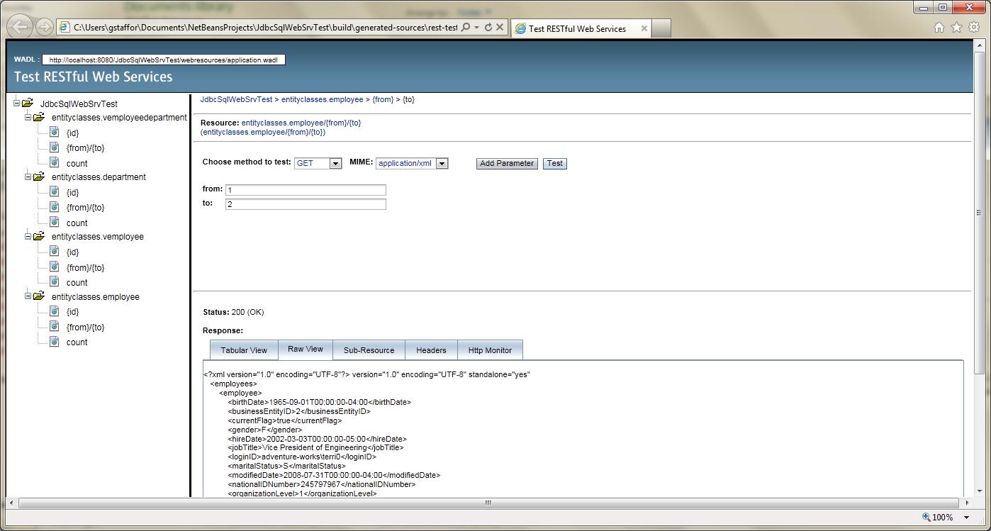 Test RESTful Web Service in NetBeans - 05