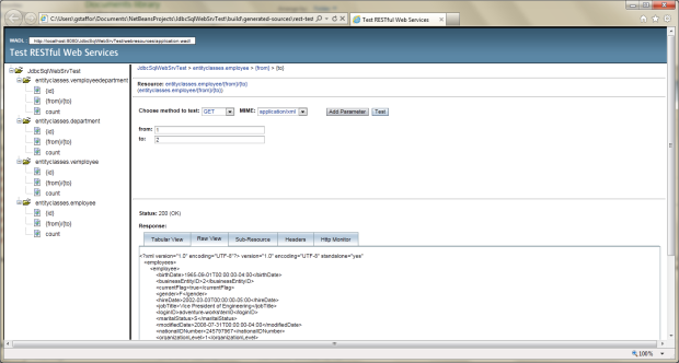 Test RESTful Web Service in NetBeans - 05