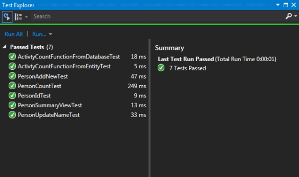 Database First Development with Entity Framework 5 in Visual