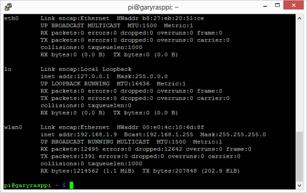 Final View of Network Interfaces