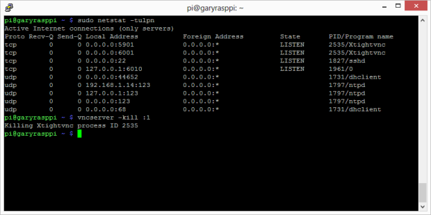 First Time vcnserver Command 2