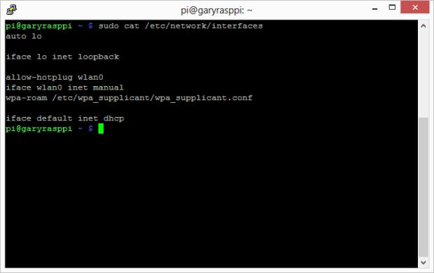 Raspbian Version of Interfaces File