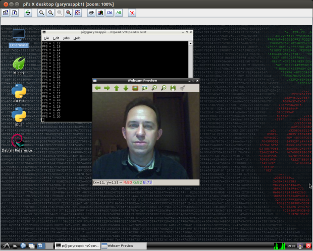 Test 1: Displaying Webcam Feed using OpenCV (Raspberry Pi)