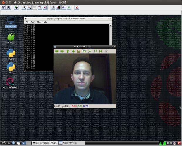 Test 1: Displaying Webcam Feed using OpenCV (Raspberry Pi)