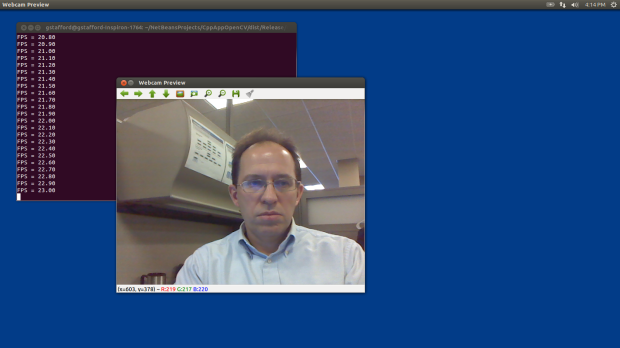 Test 1: Displaying Webcam Feed using OpenCV (laptop)