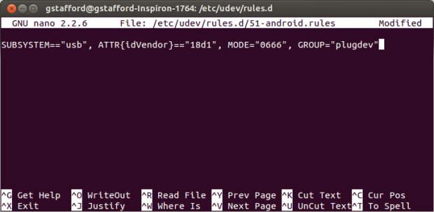 Adding the Android Debug Rule (step 4)