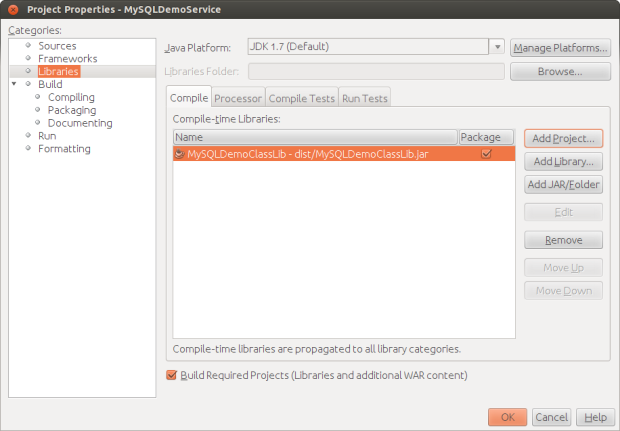 Adding MySQL Entity Class Library