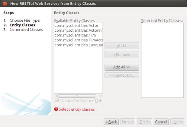 Choosing Entity Classes