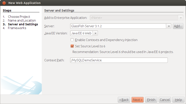 Configuring Server and Settings